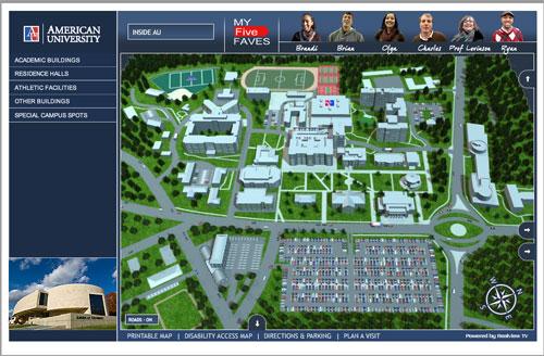 American University Scholarshipcarecom - American university map